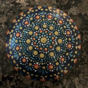 Original Mandala Painting on Rock