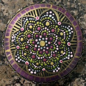 Original Mandala Painting on Rock