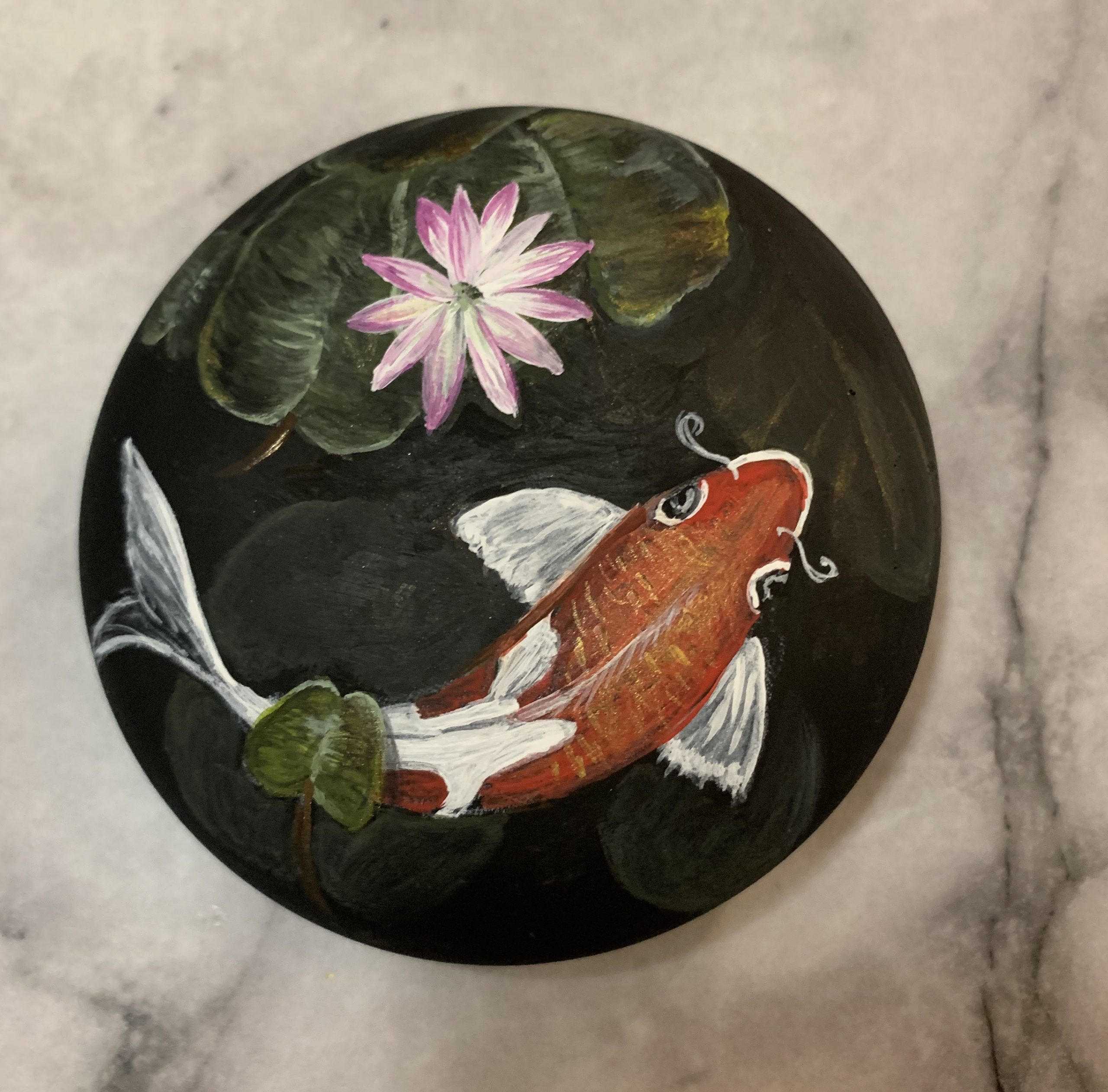 Koi Fish - Dark Pond