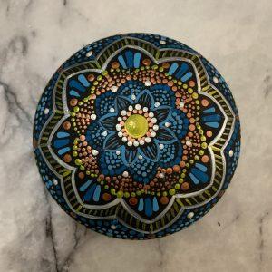 Mandala - Original Painting on Rock