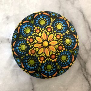 Original Mandala Painted Rock
